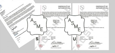 CERTIFICATIONS ASME S ET ASME U